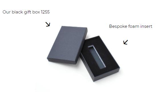 Custom black paper gift box