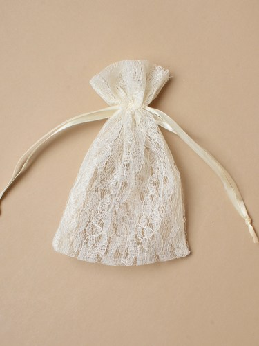 Lace/Satin Drawstring Bags