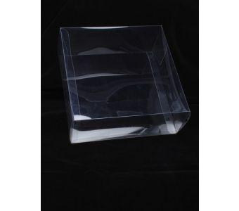 Size: 20x20x8cm Transparent fascinator box.