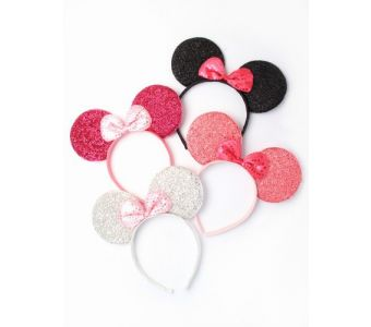 Sparkly mouse ears aliceband.