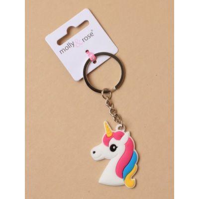 Unicorn charm keyring. 3 styles. 4cm