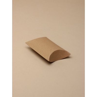 Size: 6.8x5.8x2.5cm Natural brown pillow pack box.