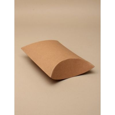 Size:14x11x5cm Brown paper pillow pack box.