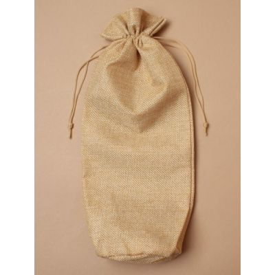 Size: 35x15cm Imitation Jute bottle bag.