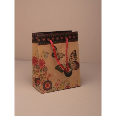 Size: 20x15x6cm butterfly print gift bag.