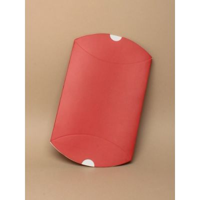 Size: 14x11x5cm Red pillow pack gift box.