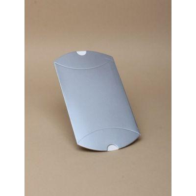 Size: 9x8x3cm Silver Grey pillow pack box.