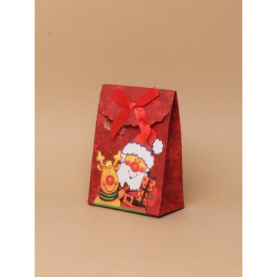 Size: 10.5x7.5x4cm Christmas Santa gift box.