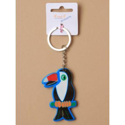 Tropical bird keyring 6cm