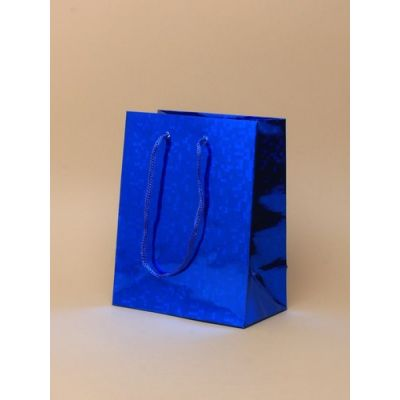 Size: 15x12x6cm Blue Holographic gift bag.