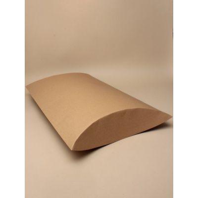 Size: 40x29x8cm Brown kraft paper pillow pack box.