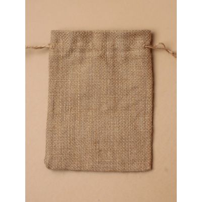 Size: 15x10cm Natural sack cloth gift bag.