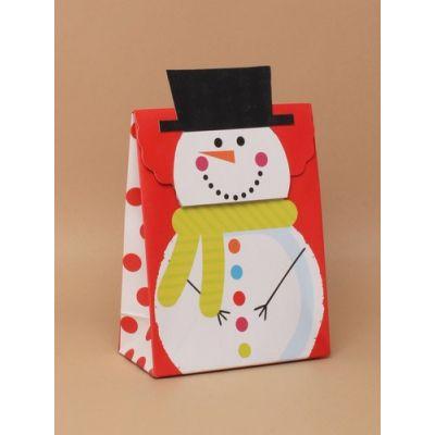 Size: 16x12x6cm Snowman velcro gift box.