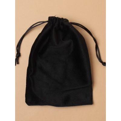 Size: 17x12cm Black velveteen bag.