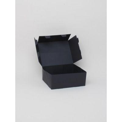 Size: 15x12x6cm Black printed fold flat box. Fast assembly