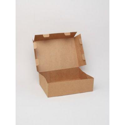 Size: 20x15x6cm Brown kraft fold flat box. Fast assembly