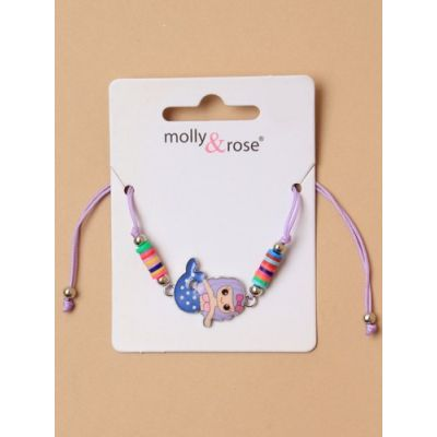 Adjustable corded bracelet with Mermaid charm.