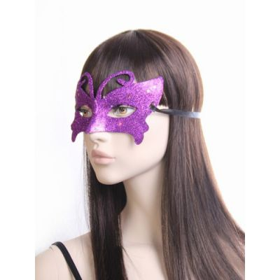 Glitter masquerade mask with star detail .