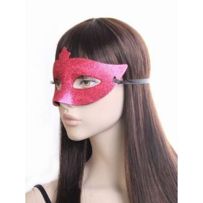 Brightly coloured glitter masquerade mask.