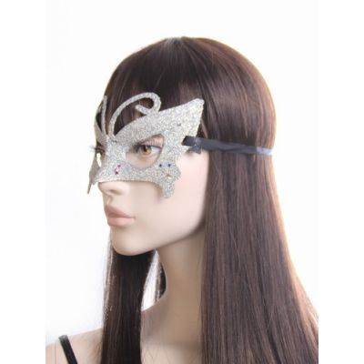 Butterfly glitter masquerade mask.