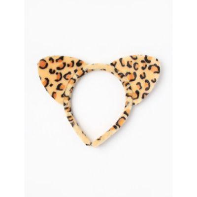 Leopard print ears aliceband.