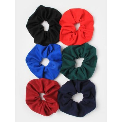 Regular - Jersey fabric scrunchie in School colours. Dia.11cm