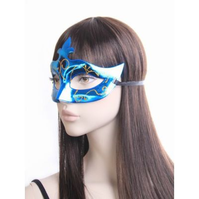 Metallic masquerade mask with glitter detail.