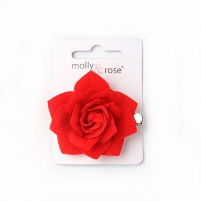 Small red rose beak clip 4.5cm