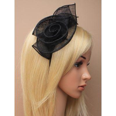 © Style Catherine, Sinamay rose fascinator on an aliceband.
