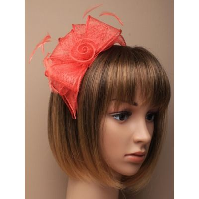 © Style Verity, Sinamay rose fascinator on an aliceband.