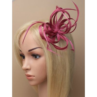 © Style Oriel, Looped sinamay fascinator on clip and pin fitting.