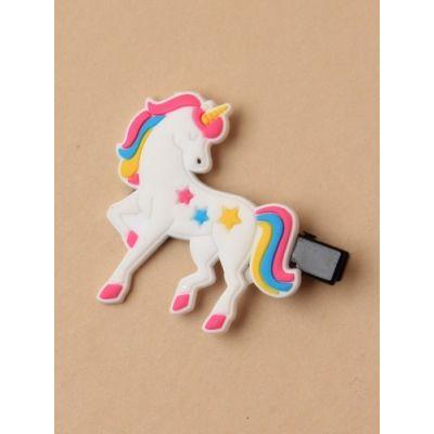 Unicorn motif on a beak clip. 4cm