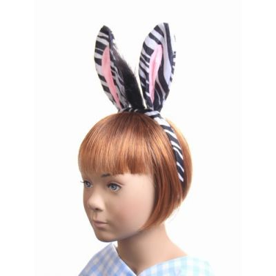 Zebra ears and tail dress up set