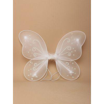 White net fairy wings 33x25cm
