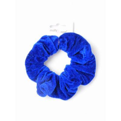 Regular - High shine velvet School colour mix scrunchie. Dia.11cm
