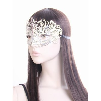 Metallic filigree masquerade mask