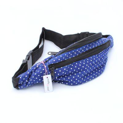 Polka dot fabric bum bag