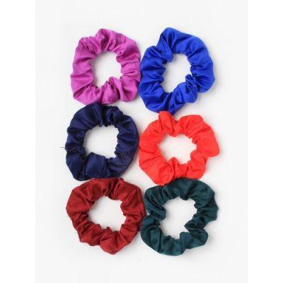 Small - Satin scrunchie in School colours. Dia.8cm