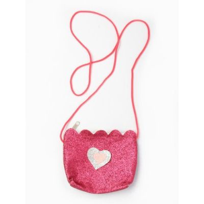 Glitter bag with long cord 11x9cm