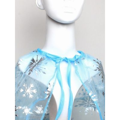 Childrens cape with snowflakes and tie fastening