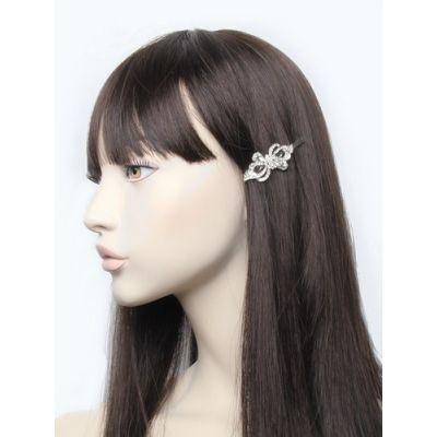 Victorian style crystal hair slide. 6cm.