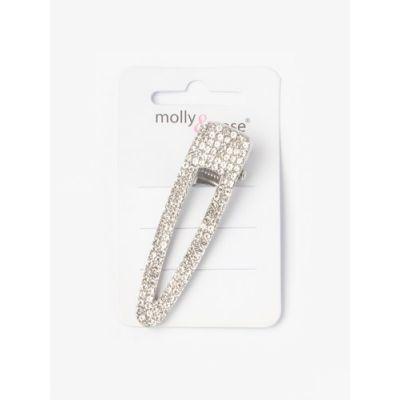 Crystal fascia hair clip 6.5cm