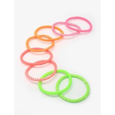Elastics - Neon mix - 4mm thick - Card of 8