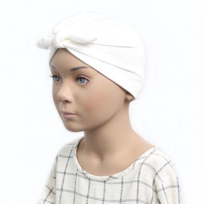 Child size soft fabric head turban.