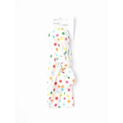 Childrens soft polka dot fabric bandeau.