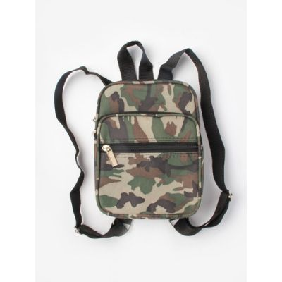 Camouflage print back pack 21x16x7cm.
