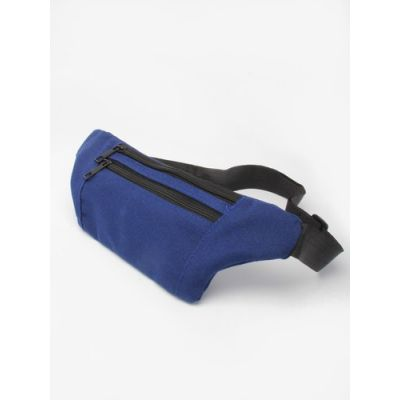 Canvas fabric bum bag with double zip.