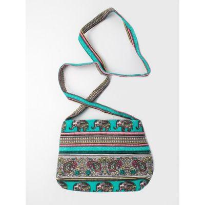 Paisley print shoulder bag. 22x16x5cm.
