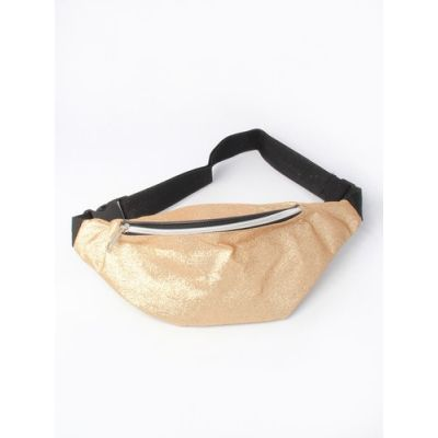 Glitter fabric bum bag. 28x12cm