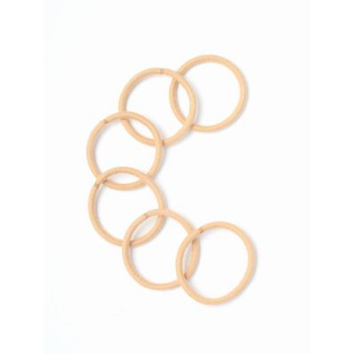Cotton elastics - Blonde - 4mm thick - Card of 6